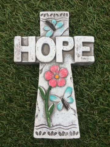 CROSS Garden Coloured Decorative Stone HOPE